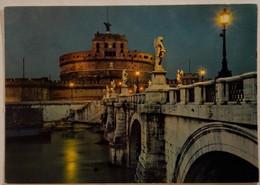Roma - Di Notte - Castel Sant'angelo - 265 - Formato Grande Non Viaggiata – E 17 - Castel Sant'Angelo