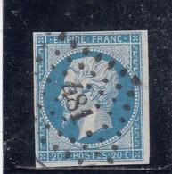France - Année 1854 - N°YT 14Ac- 20c Bleu S. Azuré - 1853-1860 Napoleone III