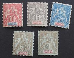 Soudan 1900 Yver 16 à 19 - Neufs