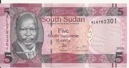 SOUDAN SOUTH 5 POUNDS 2015 UNC P 11 - Sudan