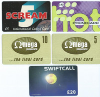 Lot - 5  Different Phonecards - Unclassified
