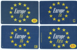 Lot - 4  Different Phonecards Europa Flag - Unclassified