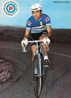 CARTE CYCLISME OTTAVIO CREPALDI TEAM FERRETTI 1972 ( DECOUPE, FORMAT 14,8 X 20,4 ) - Radsport