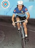 CARTE CYCLISME MARIO ANNI TEAM FERRETTI 1972 ( DECOUPE, FORMAT 14,8 X 20,4 ) - Radsport