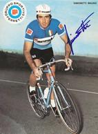 CARTE CYCLISME MAURO SIMONETTI TEAM FERRETTI 1972 ( DECOUPE, FORMAT 14,8 X 20,4 ) - Radsport