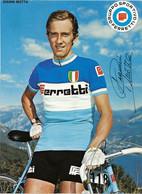 CARTE CYCLISME GIANNI MOTTA TEAM FERRETTI 1972 ( DECOUPE, FORMAT 14,8 X 20,4 ) - Radsport