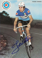 CARTE CYCLISME GIORGIO FAVARO TEAM FERRETTI 1972 ( DECOUPE, FORMAT 14,8 X 20,4 ) - Radsport
