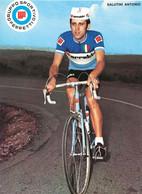CARTE CYCLISME ANTONIO SALUTINI TEAM FERRETTI 1972 ( DECOUPE, FORMAT 14,8 X 20,4 ) - Radsport
