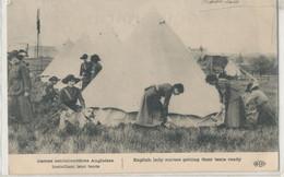 Militaria - Guerre 1914-1918 - Dames Ambulancières Anglaises Installant Leur Tente - Weltkrieg 1914-18