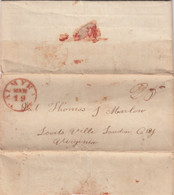 Stampless Cover And Letter, Palmyra NY To Lovits Ville, Loudon County Virginia 1831, 25c Rate - …-1845 Prefilatelia