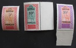 Soudan 1922 Yver 50 51 52 Neufs* - Neufs
