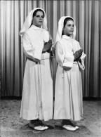 RELIGION CHRISTIANITY FIRST COMMUNION - GIRLS - Big Photo 23x17cm 1960' - Autres