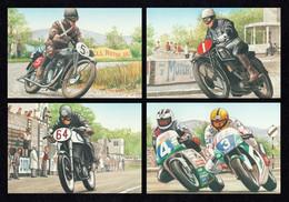 IRELAND 1996 Isle Of Man TT Motorcycle Races: Set Of 4 Postcards MINT/UNUSED - Enteros Postales