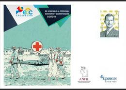 ¡NOVEDAD! ESPAÑA SPAIN 2020 ECC CÁCERES PERSONAL SANITARIO COVID-19 EDIFIL 153 SOBRE ENTERO POSTAL SEP - 1931-....