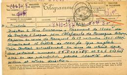 ALLIER TELEGRAMME OFFICIEL GUERRE 1945  MOULINS VOIR LES SCANS - 1921-1960: Periodo Moderno