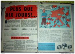 PUB PUBLICITE TINTIN HERGE  EUROPRESS JUNIOR  PLUS QUE 10 JOURS ! - Collezioni