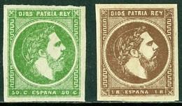 SPAIN 1875 CARLIST STAMPS, CARLOS VII* (MH) - Carlisten