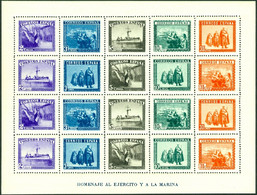 SPAIN 1938 ARMY AND NAVY SHEET OF 20** (MNH) - 1931-50 Nuovi