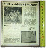 PUB PUBLICITE TINTIN HERGE CLUB DE PNOMPENH PNOM PENH CAMBODGE JOSEPH KYNONE - Collezioni