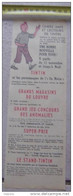 PUBLICITE TINTIN HERGE DU 11 NOVEMBRE A NOEL GRANDS MAGASINS DU LOUVRES - Collezioni