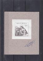 Noël 1988 - Rwanda - COB BF 102 - épreuve De Couleur - Peinture - Paolo Cariagi -avec Signature Du Dessinateur Leclercqz - 1980-89: Ungebraucht