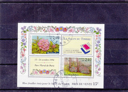 France - Yvert 2849 / 50 Oblitéré - Le Salon Du Timbre 1994 - Fleurs - Valeur Timbres = 8 € - Gebruikt