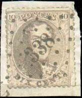 N°14B - Médaillon 10 Centimes Brun Obl. LP.338SOMERGEMidéalement Apposée Et Sur Fragment. N.2000. -B/TB- 16568 - 1863-1864 Médaillons (13/16)