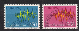 Cept 1972 Yougoslavie Joegoslavie Yvertnr. 1343-44 (°) Used Cote 1,75 Euro - 1972