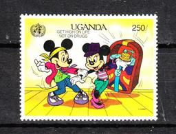 Uganda  -  1990. Topolino E Minnie Ballerini. Mickey And Minnie Dancers. MNH - Disney
