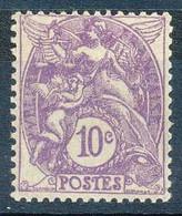 [803391]TB//*/Mh-c:5e-N° 233, 10c Violet, Blanc, Quasi **/mnh - 1900-29 Blanc