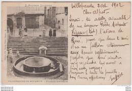 VILLEFRANCHE DE ROUERGUE FONTAINE HISTORIQUE PRECURSEUR 1902 TBE - Villefranche De Rouergue