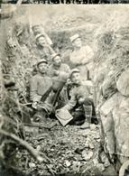PHOTO FRANÇAISE - ARTILLERIE DE TRANCHEE - ARTILLEURS ET MORTIER CRAPOUILLOT DE 58 A LE SUDEL ALSACE VOSGES 1914 1918 - 1914-18