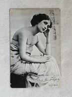Cartolina Postale Figurativa Con Immagine Di Donna, Viaggiata Da Firenze Per Pistoia 1903 - Fotografia