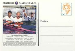 954  Champion Olympique: Entier (c.p.) D'Allemagne.  Kayak Gold Medal Winners Olympics Barcelona 1992, Atlanta 1996 - Ete 1992: Barcelone
