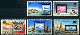 Tchad Chad 1977 Dirigeables Airships Zeppelin Hindenburg, Graf Zeppelin (stamp On Stamp) - Aerei