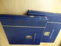 2 Ringbücher Schaubek Aufdruck Deutschland Blau (16101) - Encuadernaciones Solas