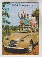 """CPSM TRANSPORT AUTOMOBILE - Les Vacances En 2 CV Citroën Et """"Salut Les Copains"""" (toute Une époque) - Ohne Zuordnung"""