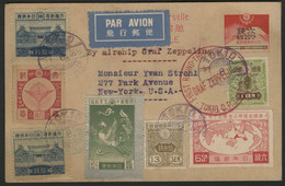 JAPAN / JAPON. First Round The World Flight TOKYO 1929 By GRAF ZEPPELIN. TOKYO - NY. RARE Flight. TB. See Description - Covers & Documents