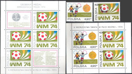 M3969 ✅ Sport Football Soccer FIFA World Cup 1974 Poland 2v + Sheet + S/s Set MNH ** 17.4ME - 1974 – West-Duitsland