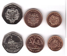 Guyana - Set 3 Coins 1 5 10 Dollars 2015 - 2018 UNC Lemberg-Zp - Guyana