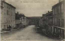 CAYLUS  Grande Rue Recto Verso - Caylus