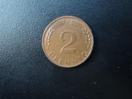 RÉPUBLIQUE FÉDÉRALE ALLEMANDE * : 2 PFENNIG   1967 D    KM 106     SUP - 2 Pfennig