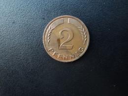 RÉPUBLIQUE FÉDÉRALE ALLEMANDE * : 2 PFENNIG   1967 G    KM 106     SUP - 2 Pfennig