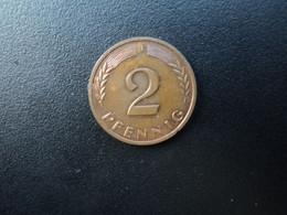 RÉPUBLIQUE FÉDÉRALE ALLEMANDE * : 2 PFENNIG   1967 J    KM 106     SUP - 2 Pfennig