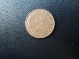 RÉPUBLIQUE FÉDÉRALE ALLEMANDE * : 2 PFENNIG   1968 D    KM 106     SUP - 2 Pfennig