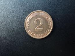 RÉPUBLIQUE FÉDÉRALE ALLEMANDE * : 2 PFENNIG   1968 G    KM 106     SUP - 2 Pfennig