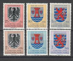 """Luxemburg - 1956 - Mi. 561-566 """"Kantonalwappen"""" **/postfrisch (D217) - Ungebraucht"""