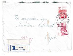 Yugoslavia, Letter Cover Registered Posted 1964 Senta To Osijek B201110 - Covers & Documents