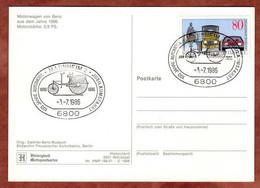 AK Motorwagen Von Benz, 100 Jahre Automobil, SoSt Mannheim 1986 (613) - Covers & Documents