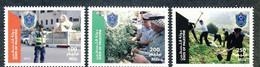 Palestine 242, Palestinian Authority, 2013, Police Day, 3 Stamps, MNH. - Palestine